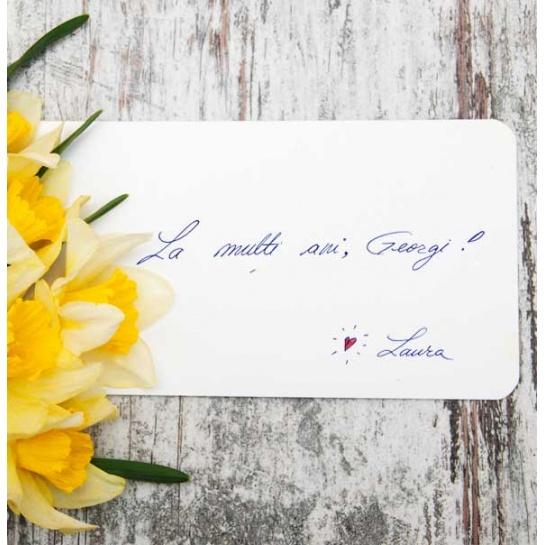 Mesaj personalizat, scris de mână