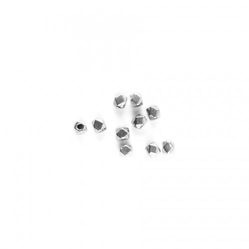 Mărgeluțe Metalice Multifațetate (10 buc)