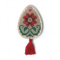 Magnet Ou Cusut Floare Roșie