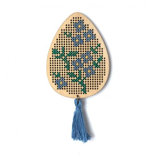 Magnet Ou Cusut Floricele Albastre